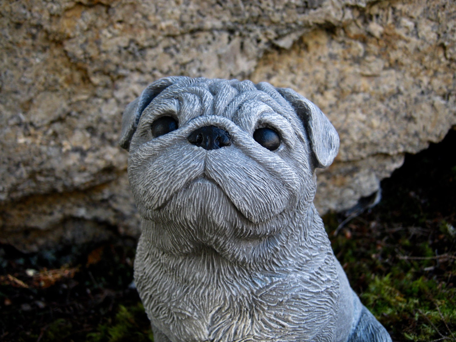 Awesome Details. Our Concrete Pug Statue ...