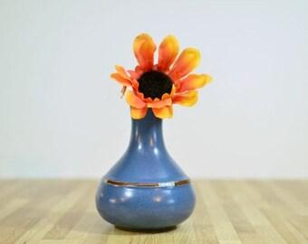 Vintage Dansk Mesa-Sky Blue Vase Ceramic Southwestern Design