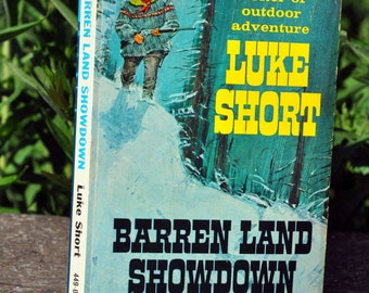 Barren Land Showdown by Luke Short, Fawcett Books, western novel