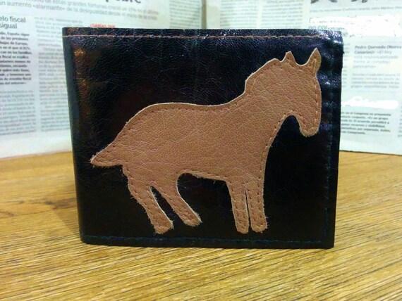 Mens wallet,leather wallet,black wallet,horse wallet,boyfriend gift,men wallet,man wallet,men leather wallet,pockets wallet,animal wallet