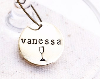 Wine Wedding Favors, Personalized Wine Glass Charms, Place Cards, Wine Theme Wedding, Wine Themed Gifts, Wine Glass Tags, Wine Tasting Party