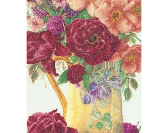 Jug of Summer Flowers Cross Stitch Kit by Thea Gouverneur