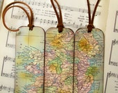 Ireland Map Gifts for Men Historical Ireland Map Bookmarks Set of 3, Ireland Old World Map Bookmarks for Men Gifts for Him
