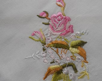 Floral Embroidered Rose Doily