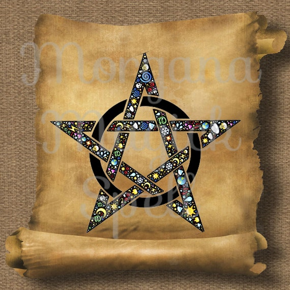Elements Pentacle  Royalty Free Clip Art