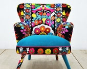 Suzani Armchair - birds in love - I