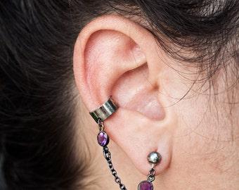 SHE'S A VISION Ear Climber • Amethyst Ear Climber