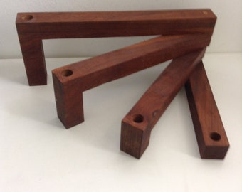 FOLDING Walnut Wood 4 Candle holder. 1960's Vintage Modernist. Mod, Mid century, Danish Modern, Eames era.