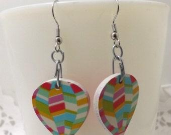 hot air balloons handmade earrings, dangle earrings