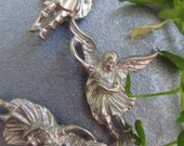 4 Sculptured Winged Angel Charm
