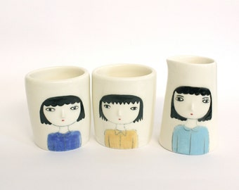 The Susans - 3 pieces set - Tumblers and creamer