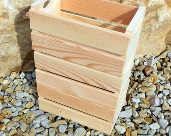 Set of 3 - 1/2 Peck Wood Fruit Crates
