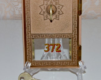 US Post Office Mailbox Door with Key's Oro MFG Company Brass Door Industrial Craft Supplies Home Decor Steampunk  Mailboxes