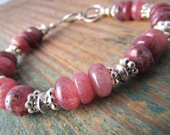 Muscovite Bracelet pink muscovite gemstone bracelet adjustable