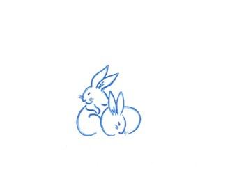 Rabbits Print