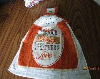 Harvest Your Blessings Gather Love Towel