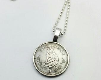 Year of the Monkey - Chinese Zodiac necklace - Monkey necklace - coin necklace - coin jewelry - Chinese New Year monkey pendant - Gibraltar