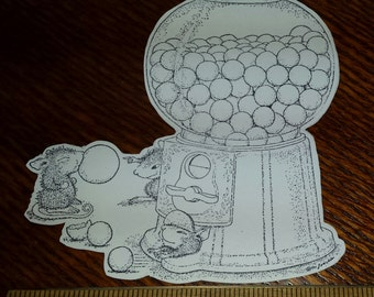 4 House Mouse Gumball Rally Cutouts from House Mouse Stampa Rosa Rubber Stamps