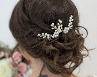 Pearl Hair Combs, Pearl crystal hair combs, Pearl Hair Pins, Pearl Hair Accessories, Vintage Style Hairpiece, Pearl Wedding Hair Accessories