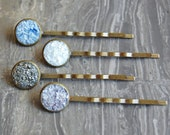 Crushed Crystal Druzy Bobby Pins