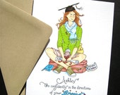 Graduation Card - Girl Graduate - Custom Graduation Card - Thoreau Quote - Go Confidently