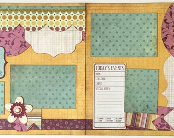 Memories Premade 2 Page 12x12 Scrapbook Layout