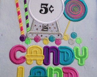 Candyland  Iron on  applique  shirt available