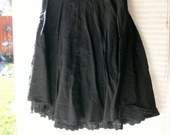 cotton black skirt size small