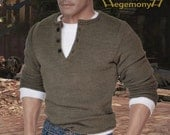 1/ 6 scale Uncharted 2 Nathan Drake inspired henley shirt for: collectible action figures and male fashion dolls