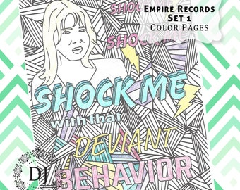 Empire Records Adult Coloring Pages Instant Download