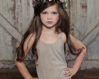 Flower Crown - Fall Halo - Flowergirl hairpiece - Autumn Wedding - Newborn Photo Prop - Wedding Crown - Floral Hairpiece