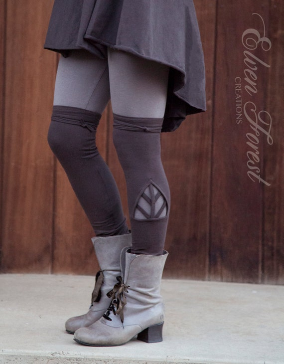 Triangle Chevron Cut Out Leg Warmers Great Over Leggings