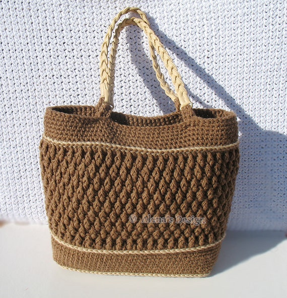 Crochet Pattern 176 Crochet Tote Bag Pattern Shoulder Bag