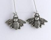 Bee Earrings, Bumblebee Earrings, Honeybee Earrings, Bee Jewelry, Silver Bee Earrings, Bee Insect Jewelry, Insect Earrings, Bug Earrings