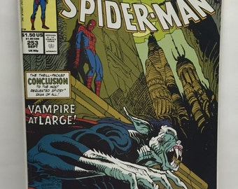 Vintage Comic Book Marvel Tales Classic Spiderman #253 September 1991 Conclusion Vampire at Large