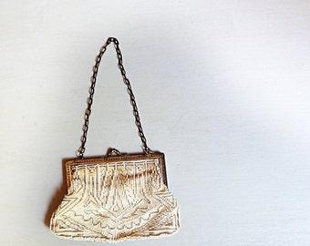 Vintage Beaded Purse, Beaded Handbag, Art Deco Purse, 1920s Handbag
