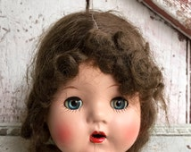 Antique bisque doll head porcelain head doll dolls head for parts Moveable Mechanical Eyes