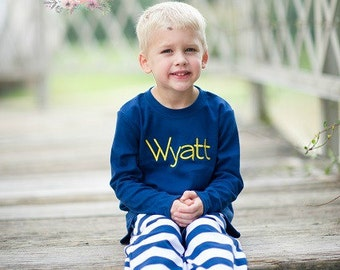 NAVY Boys Knit Pants - Pajama Pants - Fall pants for boys - Holiday gift - Birthday gift - Boy's pants - Comfy Knit pants