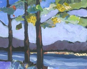 Crescent Lake Original Painting