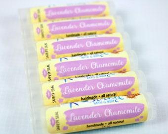 Lavender Chamomile Lip Balm . Natural Lip Balm . Lavender . Chamomile . Lip Butter