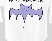 Bat Shirt Happy Halloween Baby Outfit Child's Drawing