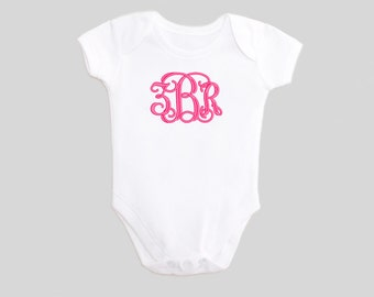 Monogrammed Baby Girl Clothes - Embroidered - Baby Girl Clothes - Bodysuit