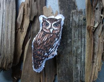 Screech Owl Bird Ornament