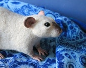 For Inese - Made to order Rat soft sculpture, Needle felted fancy rat, Wool pet toy figurine, Handmade Ooak art animal doll plushie