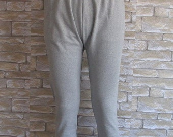Cotton Underwear Gray Taupe Unisex Trousers Pants Tights Therapeutic Stretch Cotton Winter Pant Oversize Cotton Pants Winter leggings