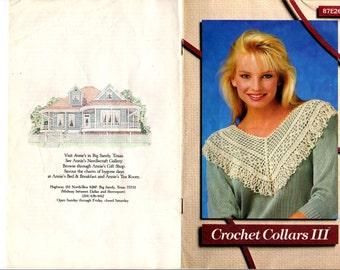 Vintage Annie's Attic Crochet Collars III ©1987 OOP
