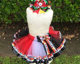Pokemon  Go Sewn Ribbon Trimmed TuTu~~~Optional Matching Over The Top Hair Bow Available~~