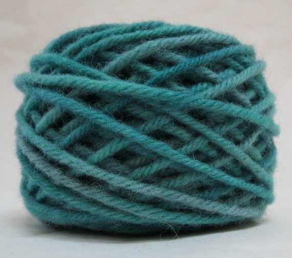 MISTY, 100% Wool, 2 Ozs. 43 yards, 4-Ply, Bulky weight or 3-ply Worsted weight yarn, already wound into cakes, ready to use. Made to order