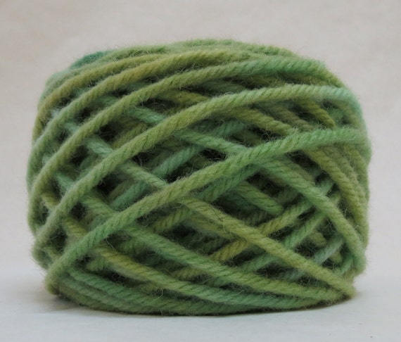 JADE, 100% Wool, 2 oz. 43 yards, 4-Ply, Bulky weight or 3-ply Worsted weight yarn, already wound into cakes, ready to use, made to order