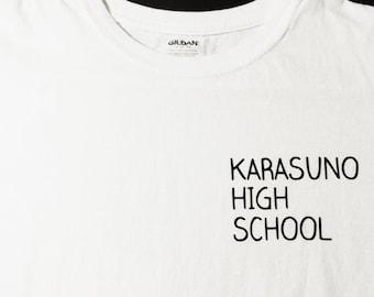 Karasuno High School t-shirt - Volleyball anime gym tee for Haikyuu cosplay